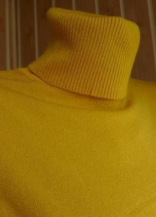 Гольф под горло свитер кашемир шерсть милано горчица цвета6 фото