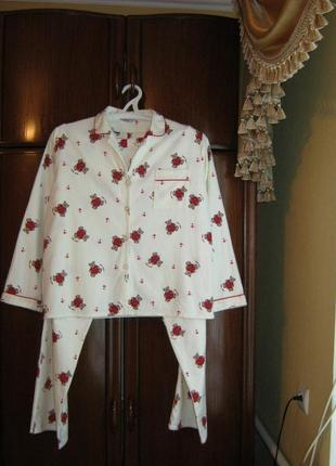 Пижама evie, 100% хлопок-байка, размер 14-16