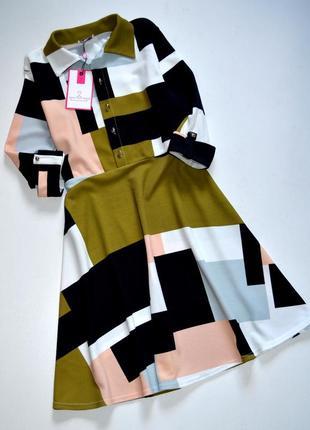Want that trend. яркое платье в геометрический принт. хл. 14.42