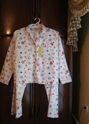 Пижама secret possessions, 100% хлопок-байка, размер 12-14