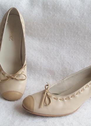Туфли с бантиком натур. кожа