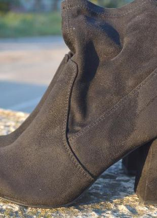 Брендовые ботиночки anna field натуральный замш
