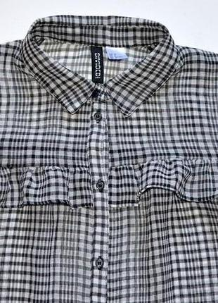 H&m. стильная рубашка с рюшами. хс-с. 6