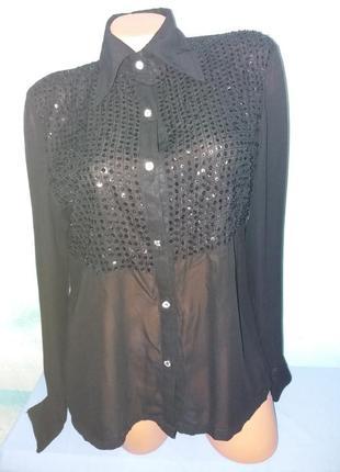 Блузка, сорочка з паєтками