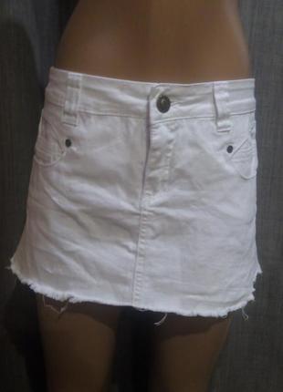 Белая мини юбка. джинсовая юбка
