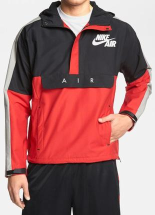 Куртка-анорак ветровка nike heritage air half zip