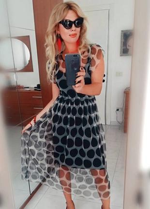 Платье в горох италия