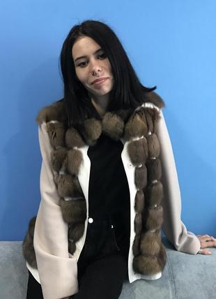 Соболь. новая шуба - пальто из соболя
