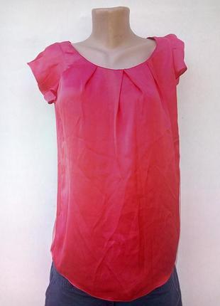 Атласная яркая блуза