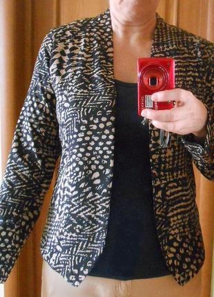 Кардиган пиджак от mork леопардовый анималистичный принт летний подкладка размер м