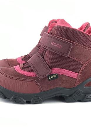 Зимние мембранные ботинкина девочку ecco