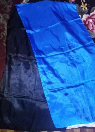 Двойной шелковый шарф, накидка