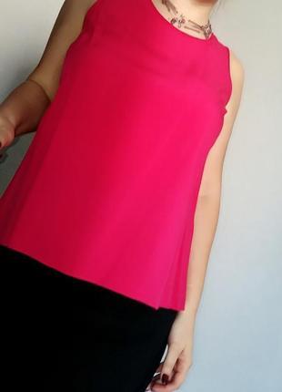 Малиновая майка-блуза из вискозы на 14-16/50-52 размер