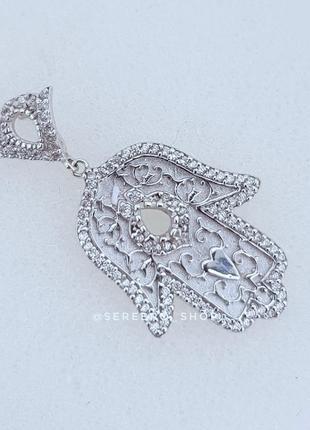 Серебряная подвеска хамса серебро 925 проба