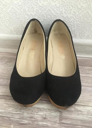 Туфли на пробковой подошве