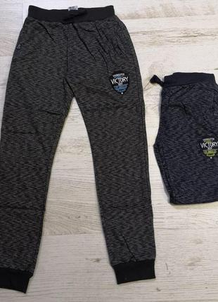 Модные спорт брюки джоггеры меланж трикотаж венгрия