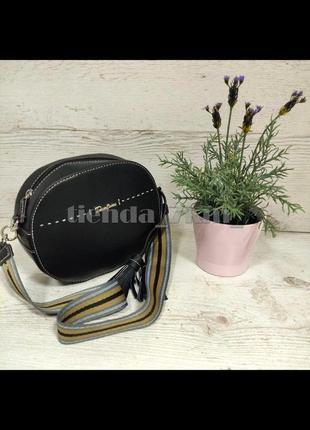 Круглая сумка через плечо / клатч от david jones 6128-1 черный