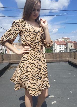 Супер модне плаття з тигровим принтом h&m