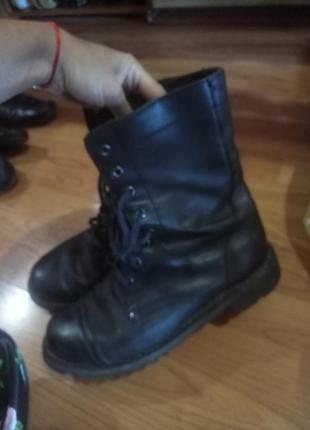 Кожаные сапоги ботинки оригинал военные