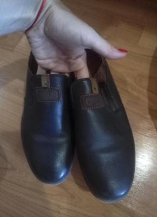 Туфли кожаные стильные