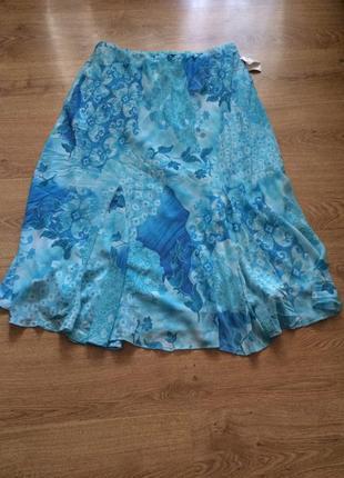 Стильная яркая летняя юбка /спідниця/ на подкладке / большой размер / toxic / 4 xl