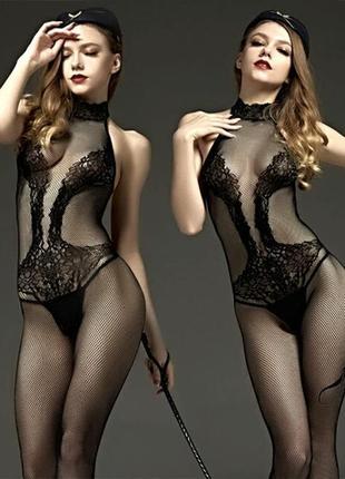 Эротический сексуальный комбинезон боди сетка sexy белье бодистокинг body stocking с - 09