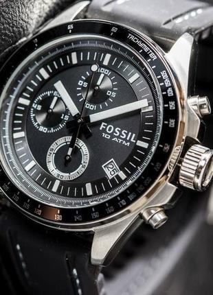 Мужские часы хронограф fossil  decker ch2573ie