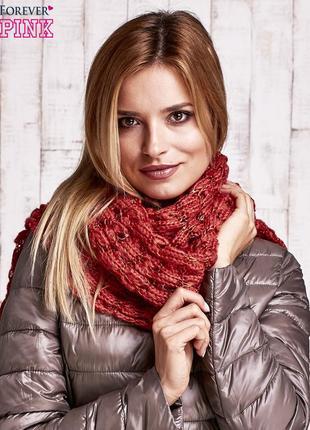 17-158 в'язаний шарф з блискітками вязаный шарф с блестками sublevel fashion