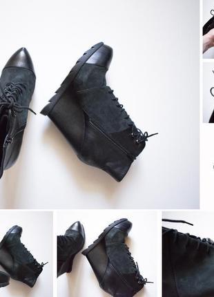 Офигенные ботинки на платформе bronx
