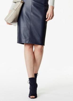Кожаная юбка -карандаш 12-14/48-50 размер