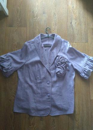Льняной пиджак 52 размер