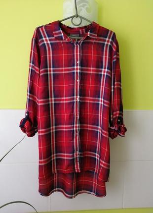 Классная рубашка в клеточку от c&a