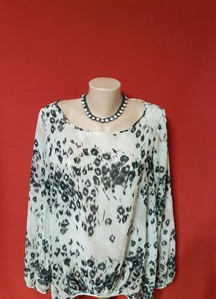 Актуальная блуза в леопардовый принт от next