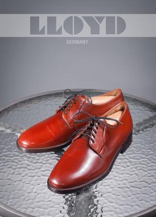 Дерби lloyd, германия 44-44,5 мужские туфли кожаные
