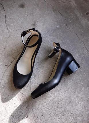 Туфли лодочки, балетки, из натур кожи, 36-40