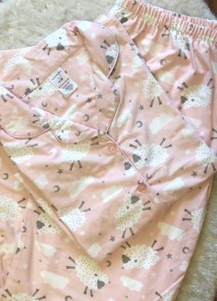 Красивая мягкая пижама с барашками большого размера 3xl/4xl