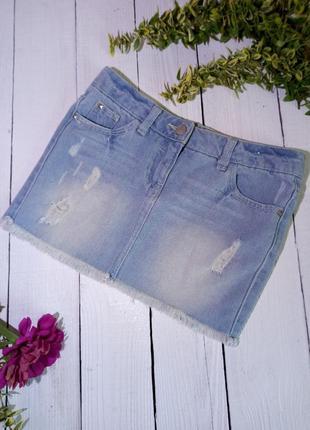 Короткая джинсовая юбка для модницы