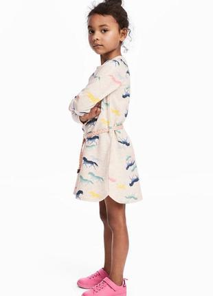 Оригинальное байковое платье от бренда h&m разм. 122-128(6-8лет)