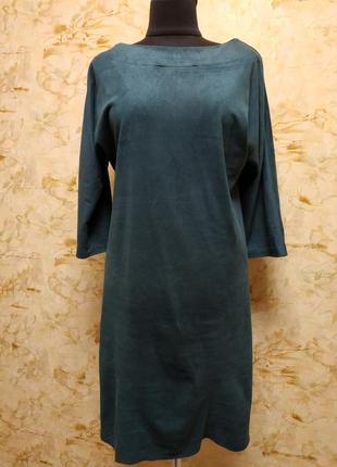 Очень классное стильное платье насыщенного бутылочного цвета, размер 44-46