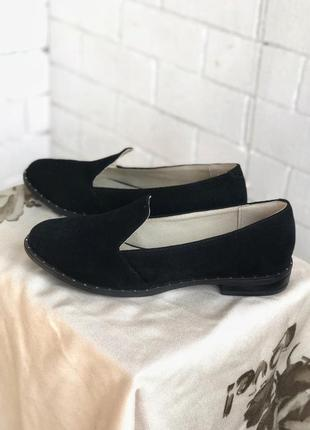 Лоферы , туфли замша