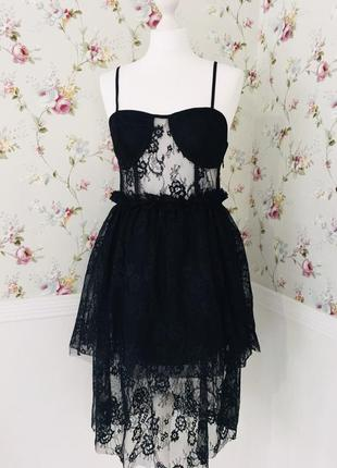 Diffuse шикарное платье кружево he diffusion