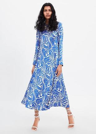 Zara платье с принтом, m-l