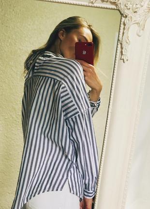 Рубашка в полоску свободного кроя от zara
