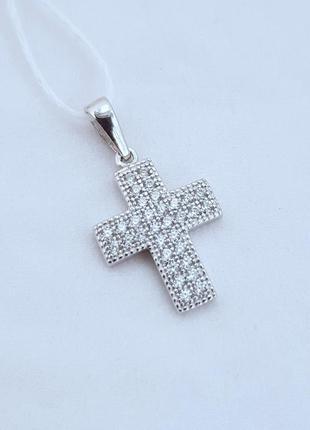 Серебряный крестик серебро 925 проба