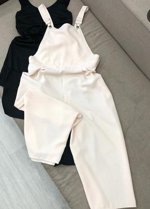 Комбинезон штаны кюлоты бежевый