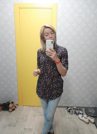 Блуза в цветочки3 фото