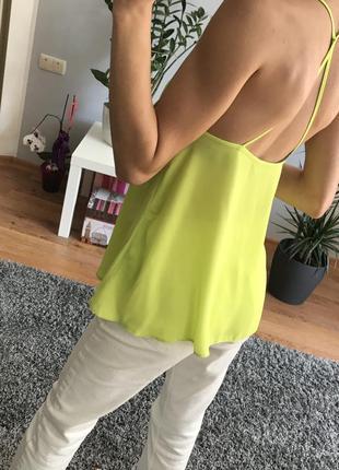 Блуза майка сорочка яркого цвета f&f