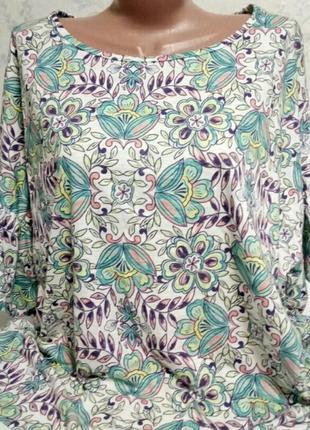 Яркая модная блуза большой размер tu