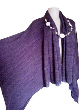 Фиолетовый буклированный кардиган из вискозы на все размеры