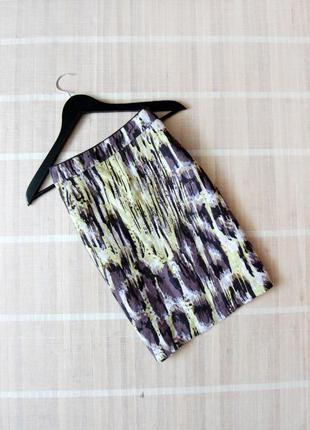 Льняная юбка m&s прямого кроя